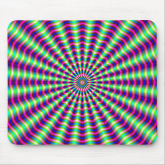 Hypnotic Rings and Beams Mouse Pad