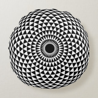 Hypnotic Round Pillow for Your Interior