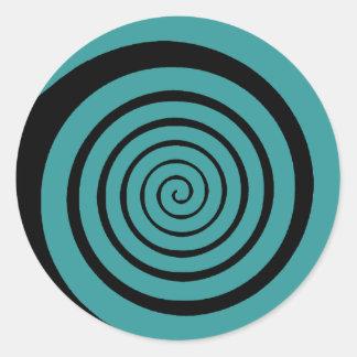 hypnotic spiral classic round sticker