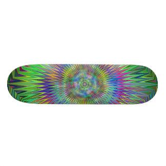 Hypnotic Star Burst Fractal Skate Deck