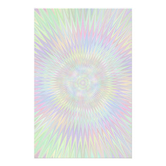 Hypnotic Star Burst Fractal Stationery