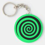 Hypnotic Swirl Keychain