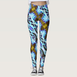 Hypnotic Swirls and Stars Leggings