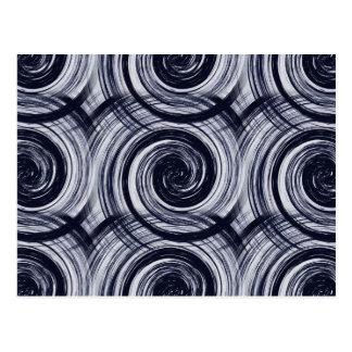 Hypnotic Swirls Postcard
