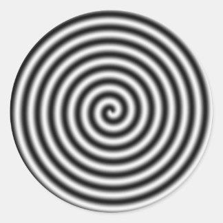 hypnotising classic round sticker