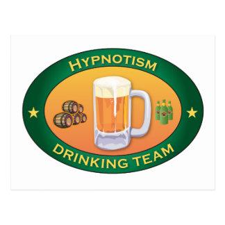 Hypnotism Drinking Team Postcard