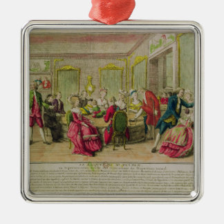 Hypnotism Session with Franz Anton Mesmer  1784 Silver-Colored Square Decoration