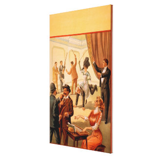 Hypnotist controlling room of People Theatre Canvas Print