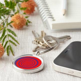 hypnotize red spiral key ring