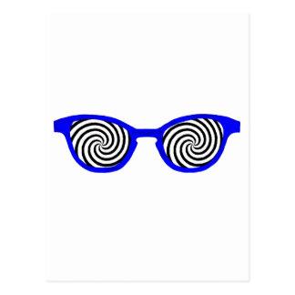 Hypnotize Sunglasses Blue Rim The MUSEUM Zazzle Gi Postcard