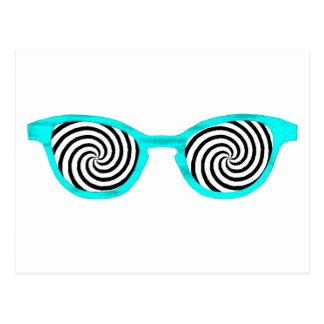 Hypnotize Sunglasses Cyan Rim The MUSEUM Zazzle Gi Post Card