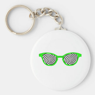 Hypnotize Sunglasses Green Rim The MUSEUM Zazzle G Keychains