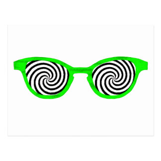 Hypnotize Sunglasses Green Rim The MUSEUM Zazzle G Post Card