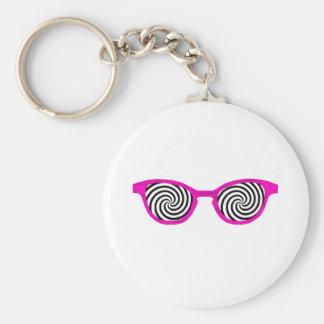 Hypnotize Sunglasses Magenta Rim The MUSEUM Zazzle Keychain