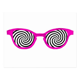 Hypnotize Sunglasses Magenta Rim The MUSEUM Zazzle Postcard