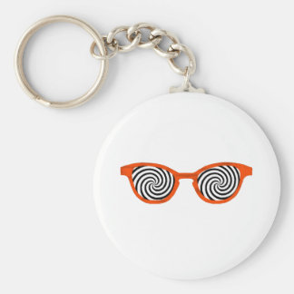 Hypnotize Sunglasses Orange Rim The MUSEUM Zazzle Key Chains