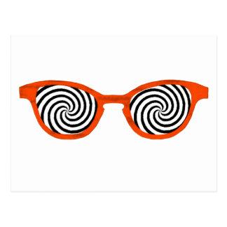 Hypnotize Sunglasses Orange Rim The MUSEUM Zazzle Postcards