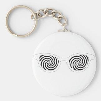 Hypnotize Sunglasses White Rim The MUSEUM Zazzle G Key Chains