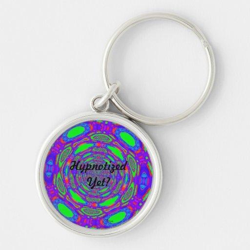Hypnotized Yet Brightly Colored Keychain