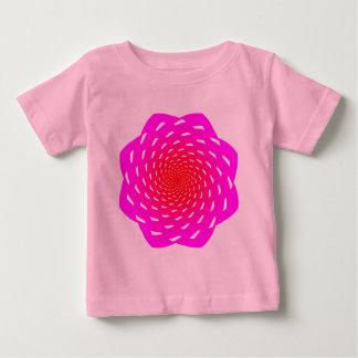hypnotizing space flower design pink red shirt