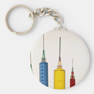 Hypodermic needles keychain