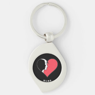 Hypoplastic Left Heart Syndrome Keychain Silver-Colored Swirl Key Ring