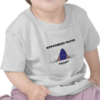 Hypothesis Tester Inside (Bell Curve Humor) Tshirt