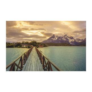 Hysteria Pehoe. Cordillera del Paine Stretched Canvas Prints