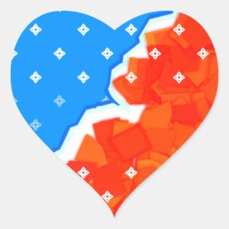 hysterical blue heart sticker