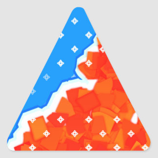 hysterical blue triangle sticker