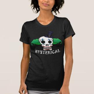 Hysterical Clown Skull Ladies Tee