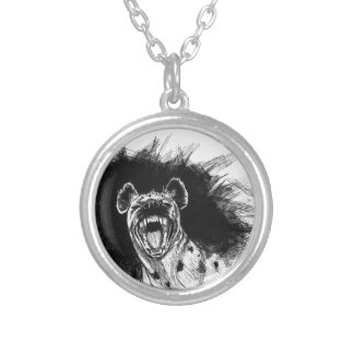Hysterical Hyena Silver Plated Necklace