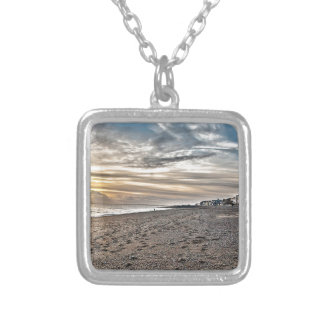 Hythe Sunset, Kent Square Pendant Necklace
