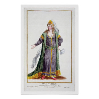 Hyu-Chen, wife of Genghis Khan, from 'Receuil des Poster