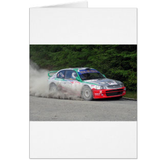 Hyundai Accent WRC Rally Car Card