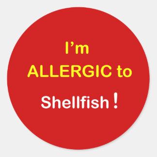 i2 - I m Allergic - SHELLFISH Stickers