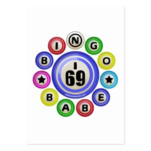 I69 Bingo Babe Large Business Cards (Pack Of 100)