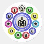 I69 Bingo Babe Round Sticker