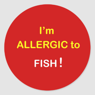 i8 - I'm Allergic - FISH. Classic Round Sticker