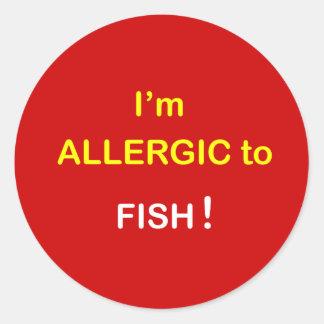 i8 - I'm Allergic - FISH. Round Sticker