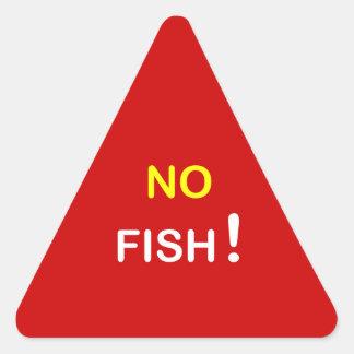 i9 - Food Alert ~ NO FISH. Triangle Sticker