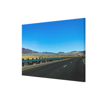 I-15 Highway, Los Angeles to Las Vegas Canvas Print