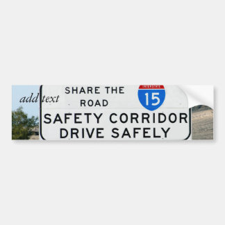 I-15 Safety Corridor Car Bumper Sticker