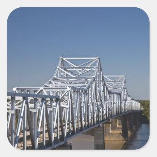 I-20 Highway bridge across Mississippi River, Square Sticker