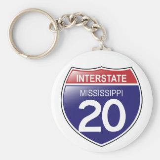 I-20 Mississippi Keychain