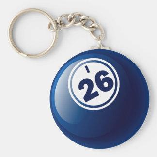 I 26 BINGO BALL KEY RING