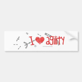 I <3 Agility Sticker Bumper Sticker