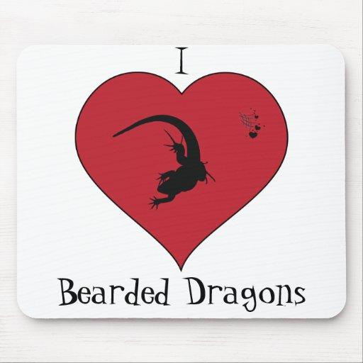 I <3 Bearded Dragons Mousepads