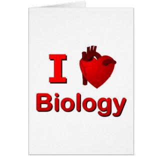 I <3 Biology Greeting Card