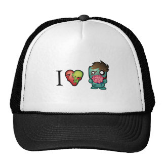 I <3 Brains- Zombies Are Everywhere! Mesh Hat